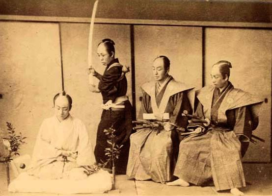 Sometimes an assistant called the kaishakunin would perform the final killing blow to the back of the neck.
