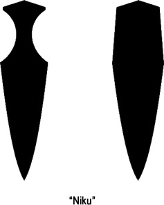 Niku or blade meat refers to the convex shape of the blades cross section