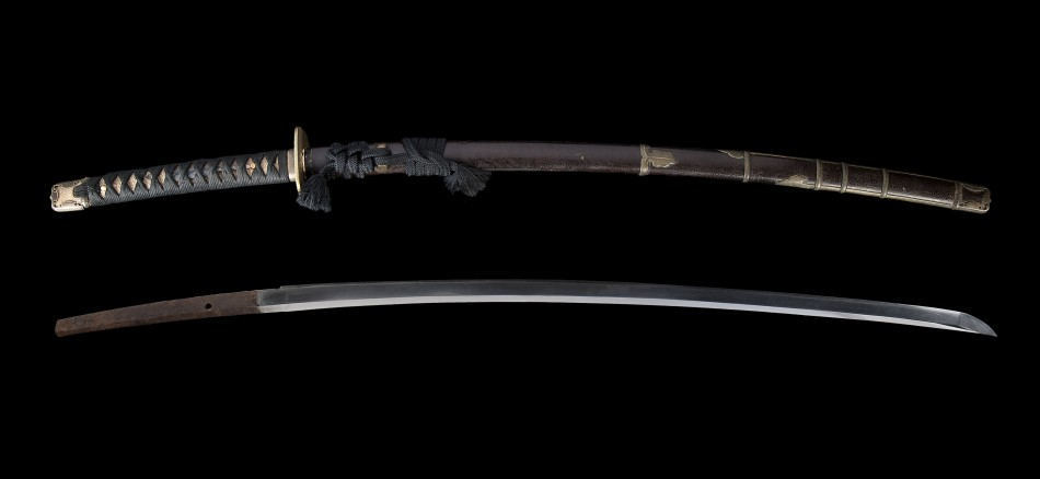 Classic style katana from the late edo period showing blade as well as koshirae